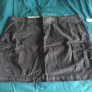 Old Navy cargo skirt steel blue sz 18